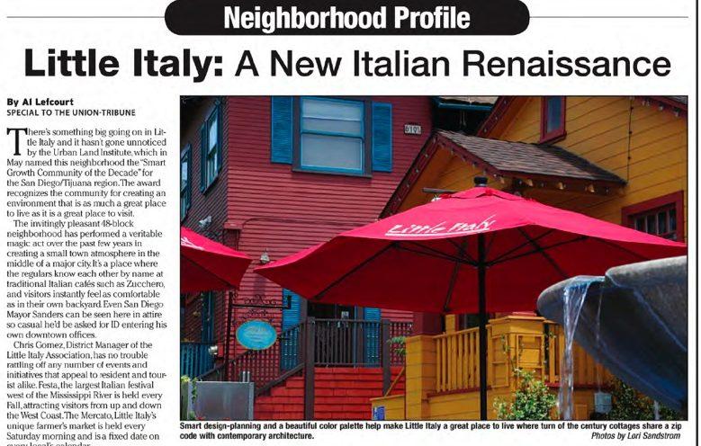 San Diego Union-Tribune Neighborhood Profile Article Copywriter Al Lefcourt