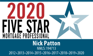 nick patton best mortgage professional award