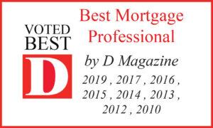 best mortgage professional award
