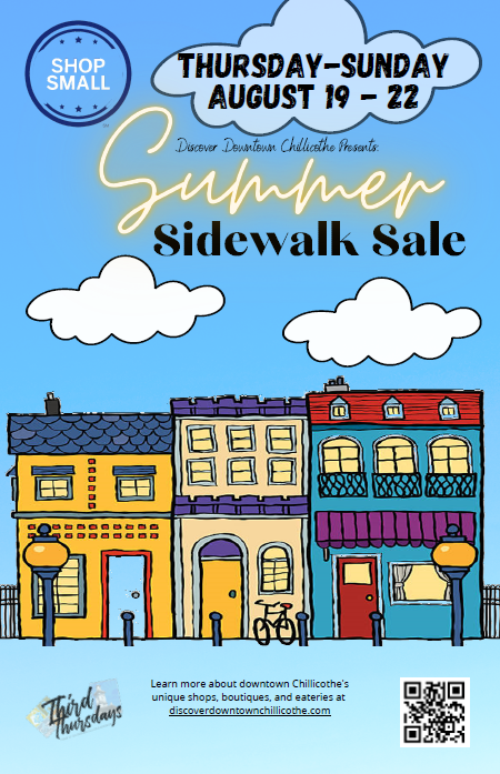 Discover Downtown Chillicothe Presents:  Summer Sidewalk Sale