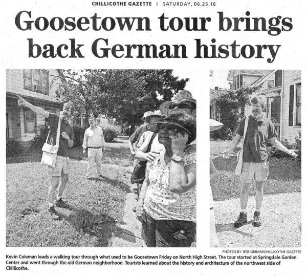 Goosetown Walking Tour 2021 in Chillicothe, Ohio