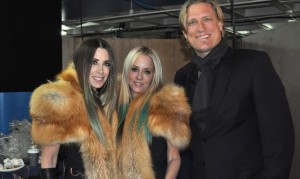 Jack Ray with founders of Juicy Couture- Gela Nash-Taylor and Pamela Skaist-Levy launching their new line Skaist-Taylor