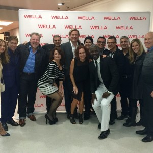 Members of the Wella Creative Retreat Team with top Wella executives