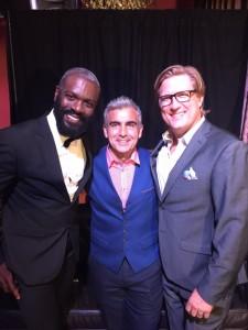 Anthony Morrison, winner of season 1 of Shear Genius, Steve Lococo of B2V Salon and Jack Ray