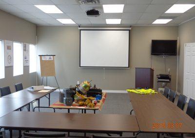 Pro-Tech's Training Boardroom in Napanee, Ontario
