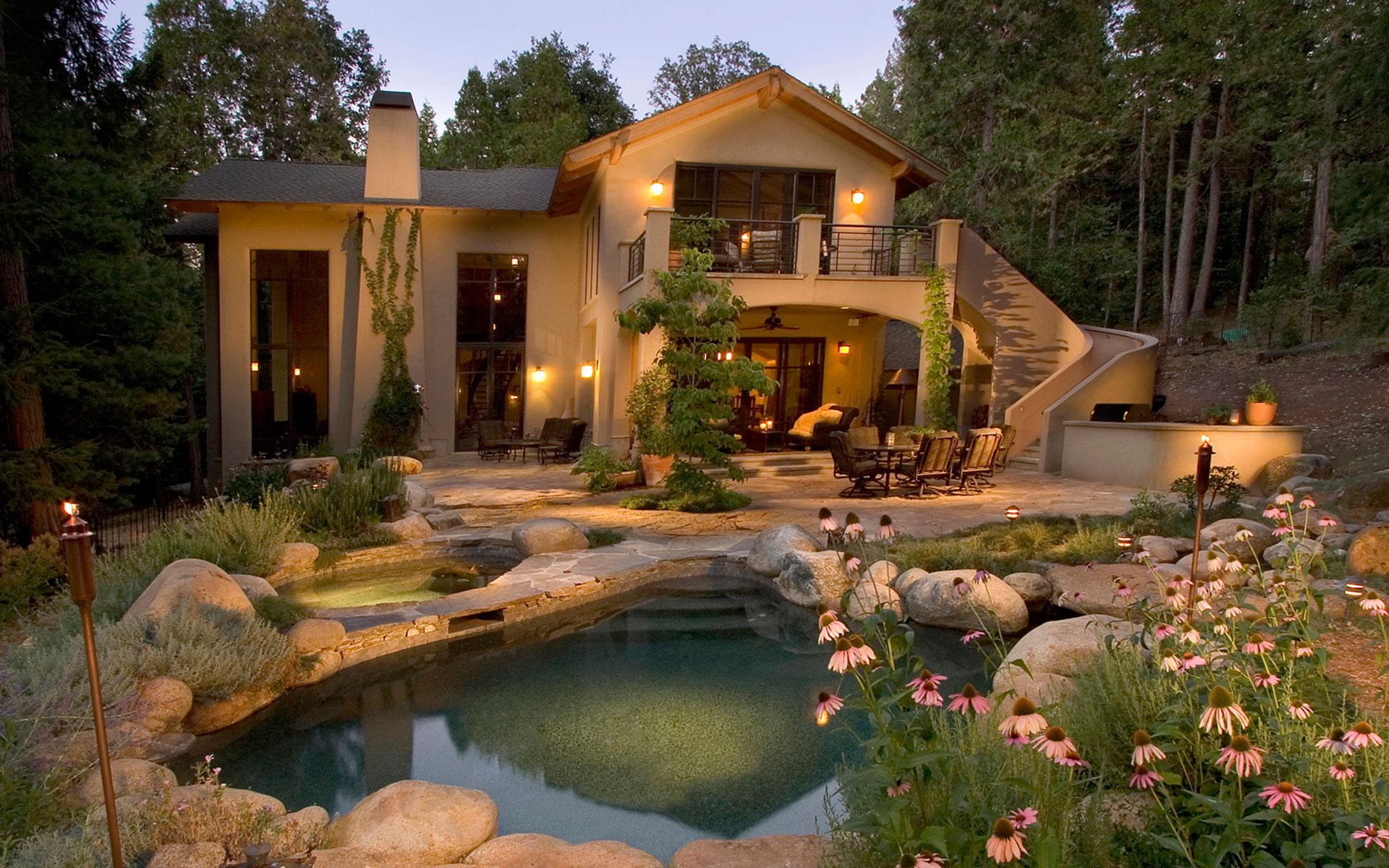 Residential architecture modern mediterranean home