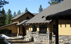 Residential architecture mountain lodge home