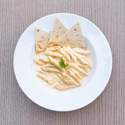 piadera Penne-Bianca our menu