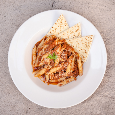 piadera Penne-Bolognese- our menu