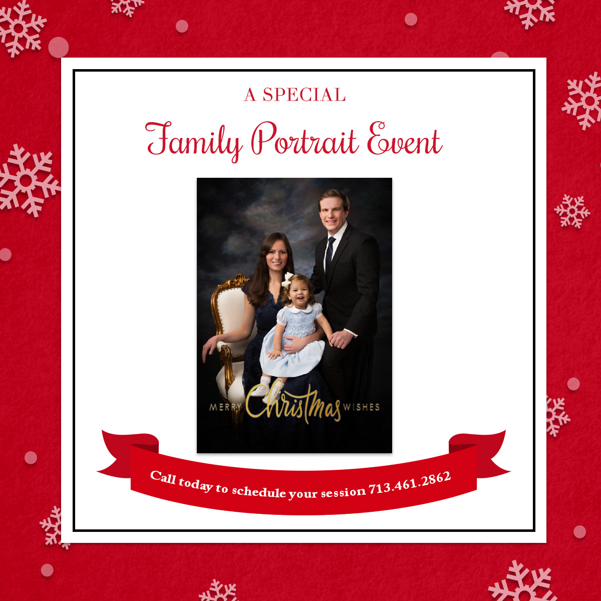 Family Portrait Photography Holiday Cards in Houston
