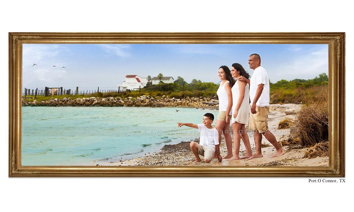 Beach destination family portraits