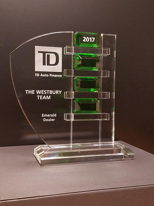 TD Auto Finance Award