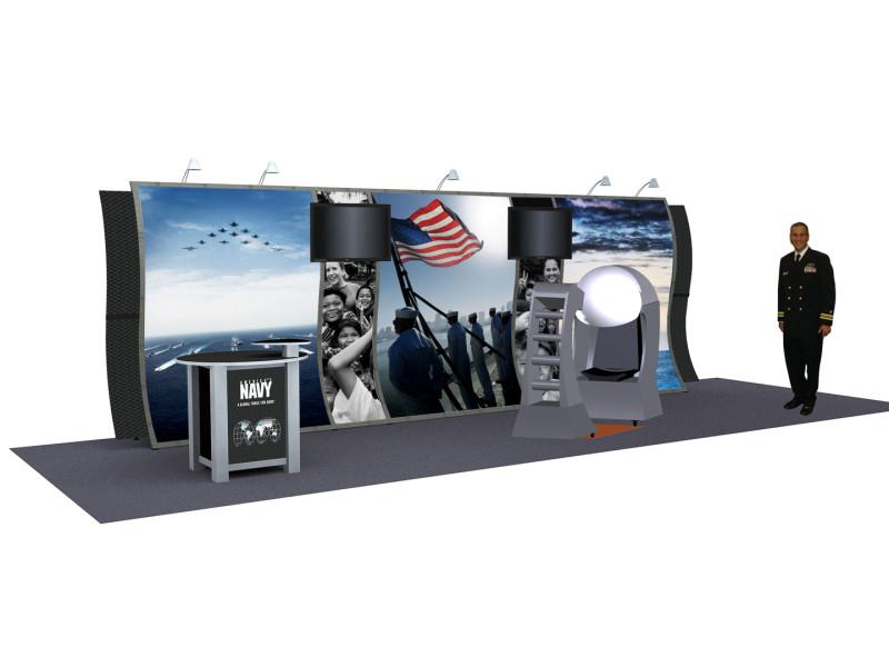 Navy Trade Show 3D Render