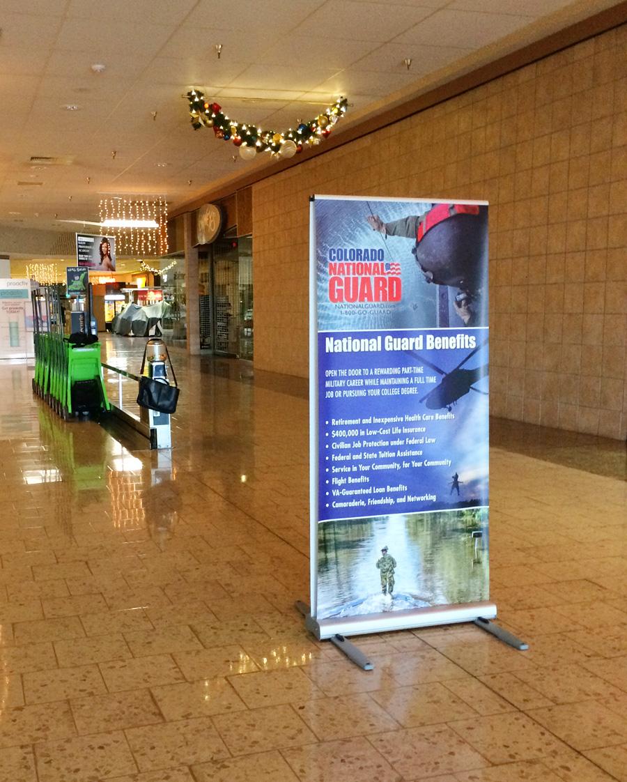National Guard Kiosk pull up banner