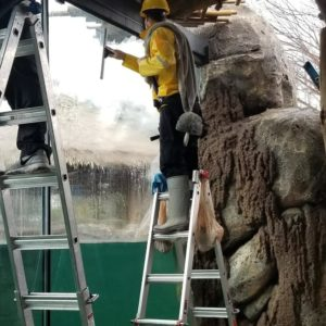 cleaning windows at ft worth zoo