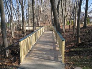 Turner Loop Reservoir with helical piers to construct boardwalks over wetlands