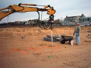 Helical piles for new construction foundation support
