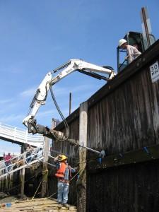 Helical Tieback Anchors for seawalls, bulkheads & bowed walls