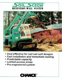 Soil nails, earth anchors, screw anchors, soil screws for soil stabilization
