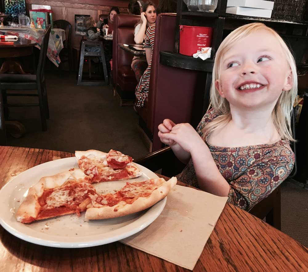 audrey's pizza birthday party