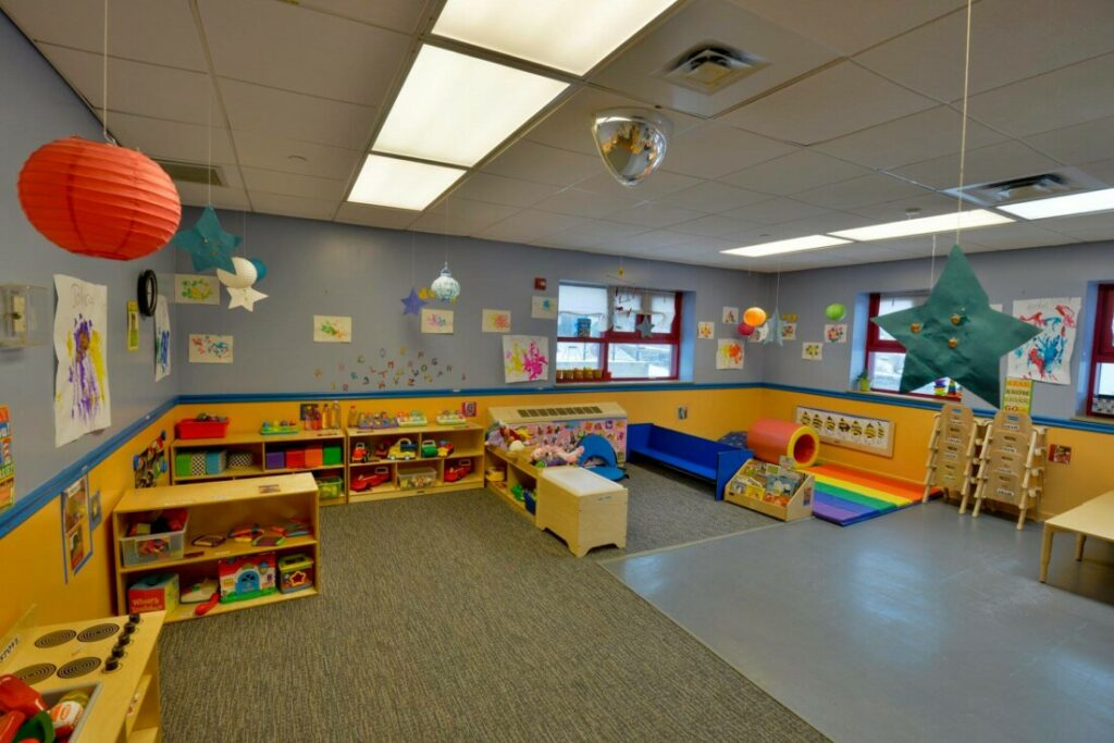 older infant classroom at Providence Connections