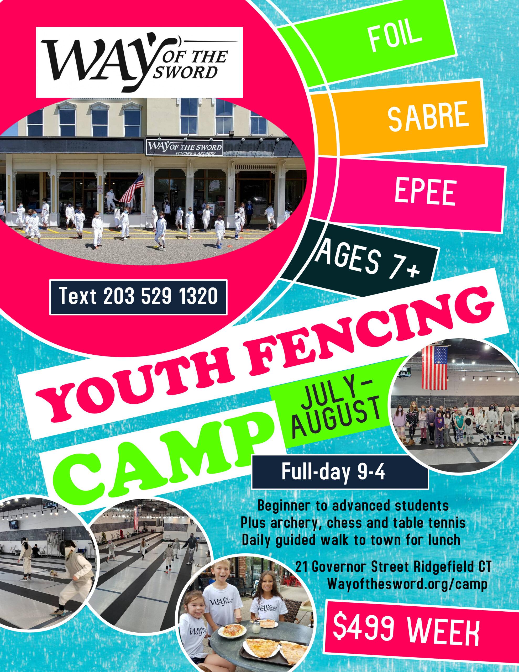 WAY Camp fencing flyer