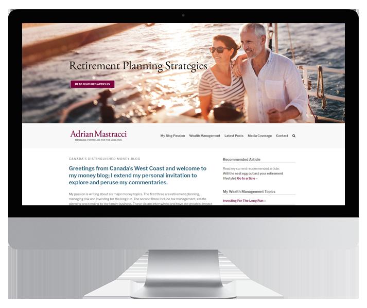 Adrian Mastracci Website by HCD