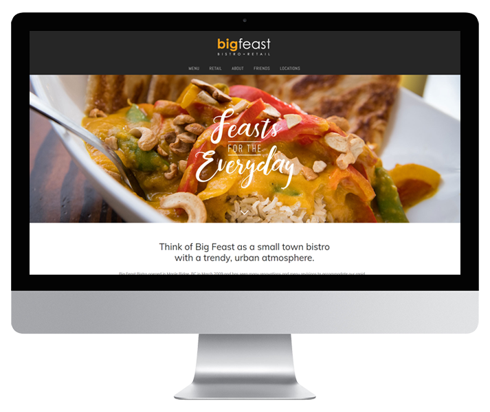 Big Feast Website by HCD