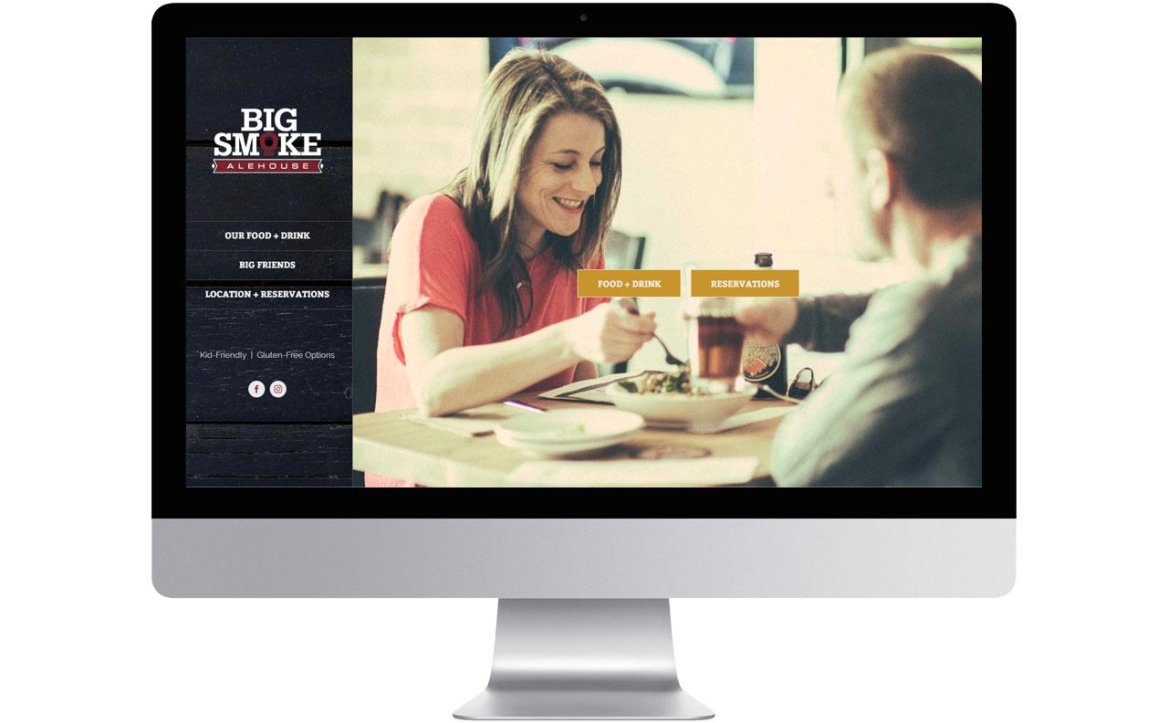 Big Smoke Website by HCD