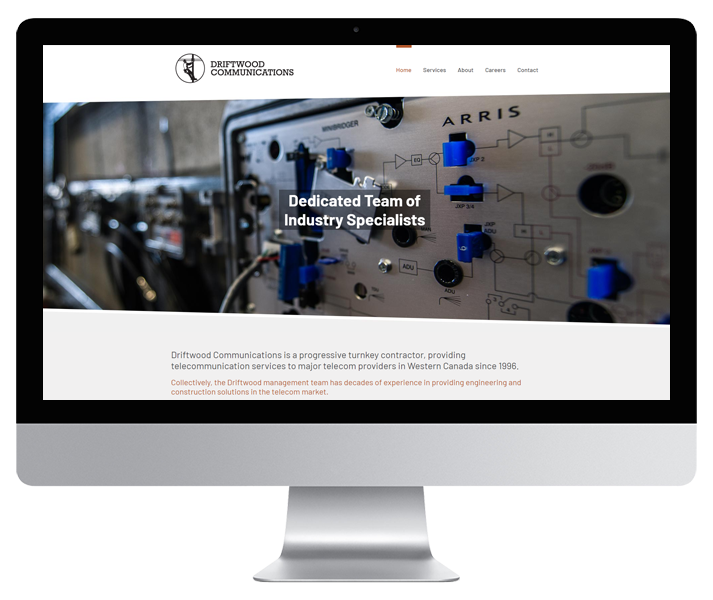 Driftwood Communications Website by HCD