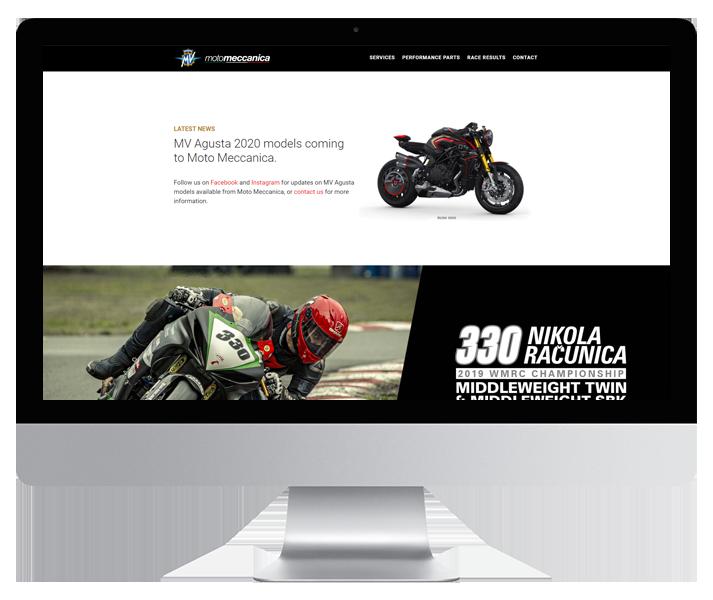 Moto Meccanica Website by HCD