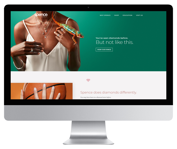 Spence Diamonds Website by HCD