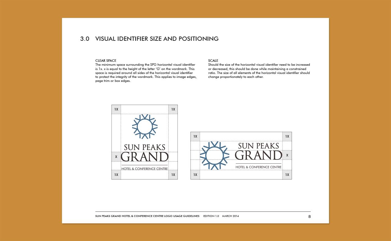 Sun Peaks Grand Hotel Logo Guidelines by HCD