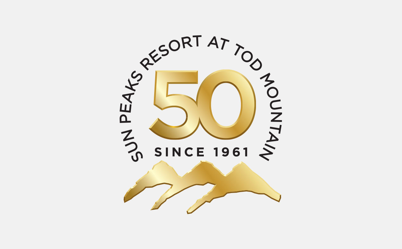 Sun Peaks Resort 50 Anniversary Logo by HCD