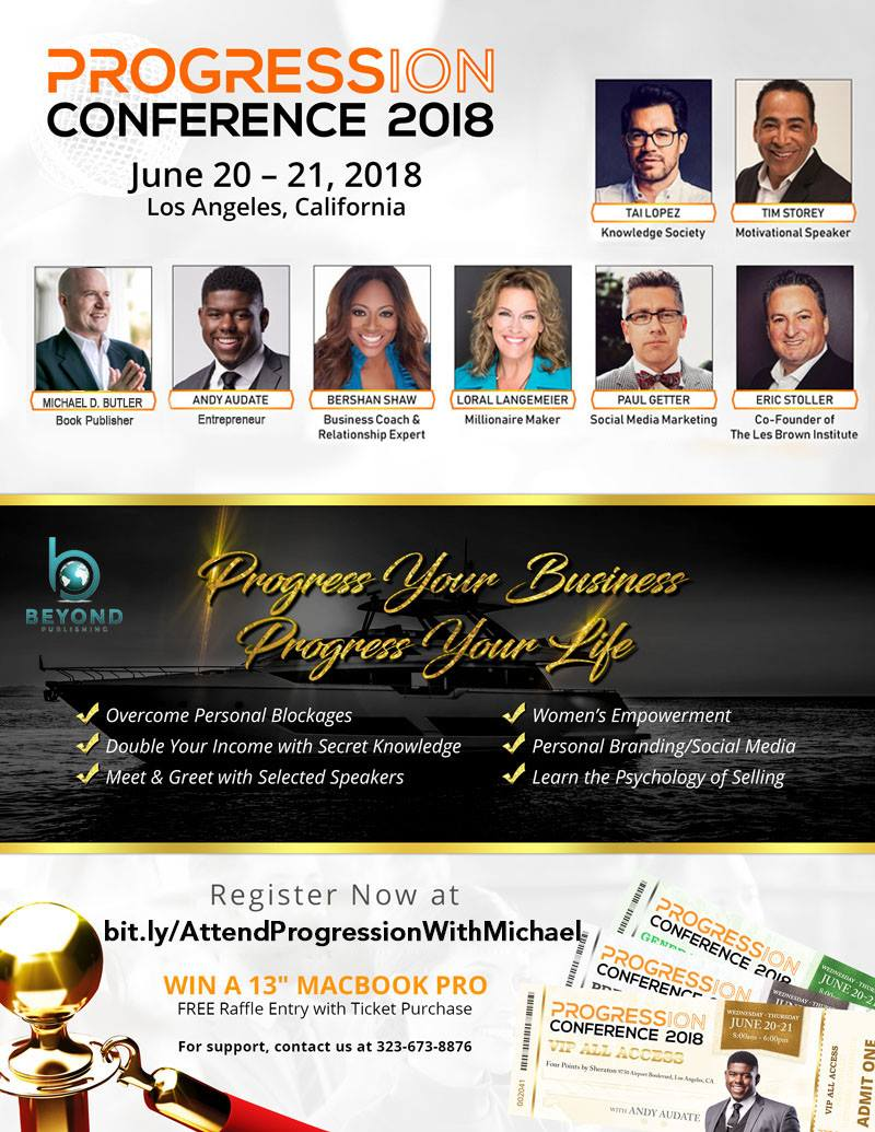 Attend Progression with Michael D. Butler Los Angeles Andy Audate