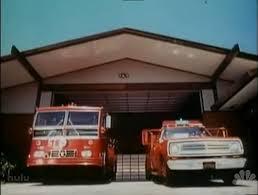 "Watching ""Emergency!"" with Chief Scott Freitag, BC Brad Davis and Firefighter Kayleen Weiland"