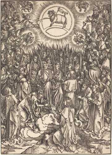 Dürer, Albrecht, German, 1471 - 1528, The Adoration of the Lamb, probably c. 1496/1498, National Gallery of Art