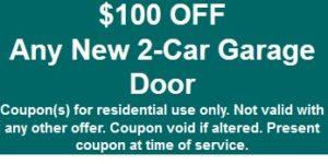 $100 off new garage door