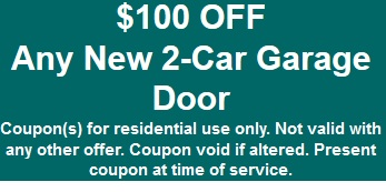 $100 off new garage door