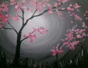 Cherry Blossoms @ Tipsy Brush