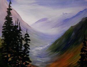 Glacier View, Painting in Plains, MT! @ VFW