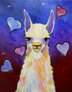 Llama Love @ Tipsy Brush