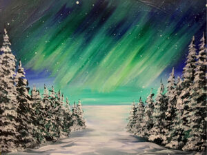 Northern Lights in Winter at Waters Edge Winery, Kalispell! @ Waters Edge Winery & Bistro