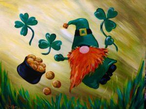 St Patrick's Gnome @ Tipsy Brush