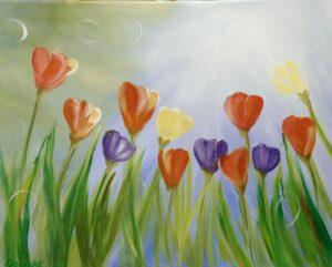 Tulips and Sunshine @ Tipsy Brush