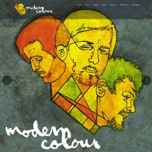 Modern Colour Music Website Design Home Page | GET FOUND ONLINE
