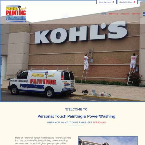 Personal Touch Painting and PowerWashing Website Design Home Page | GET FOUND ONLINE