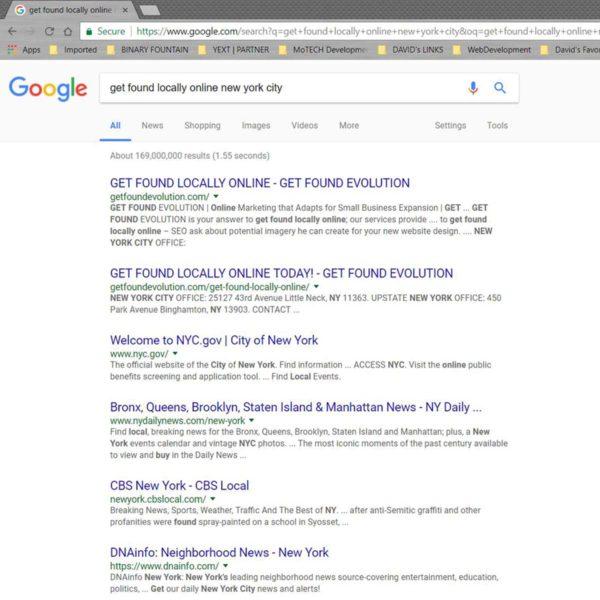 Google Rankings   GET FOUND EVOLUTION   NYC 2