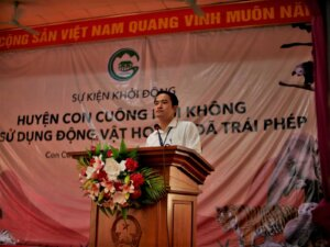 """THE LAUNCHING EVENT OF THE PROGRAM """"CON CUONG DISTRICT SAYS NO TO ILLEGAL WILDLIFE PRODUCTS"""""""