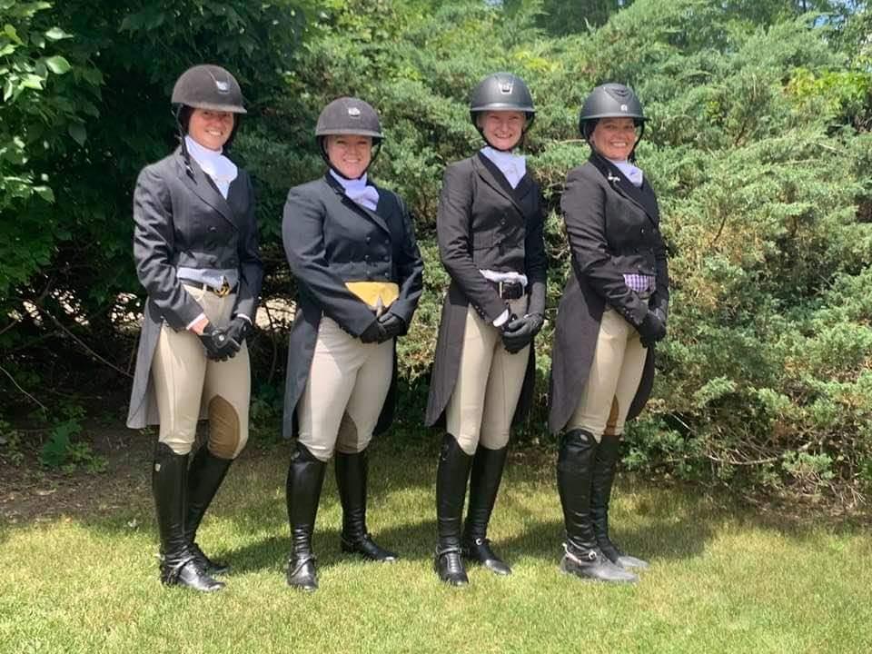 L to R: Kelsey Ramsey, Sara Rhodes, Erica halstead & Hayley Kolar
